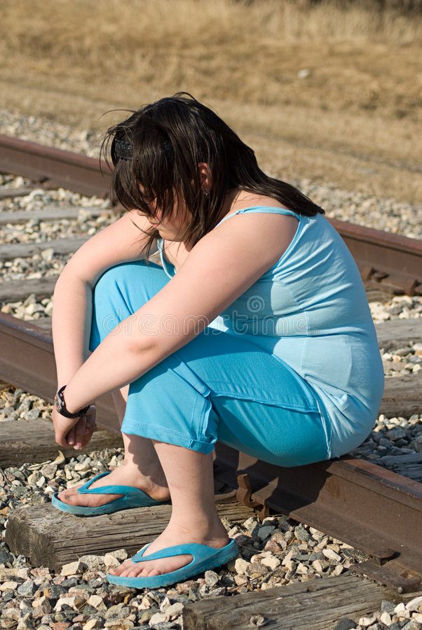 Depressed Girl royalty free stock images