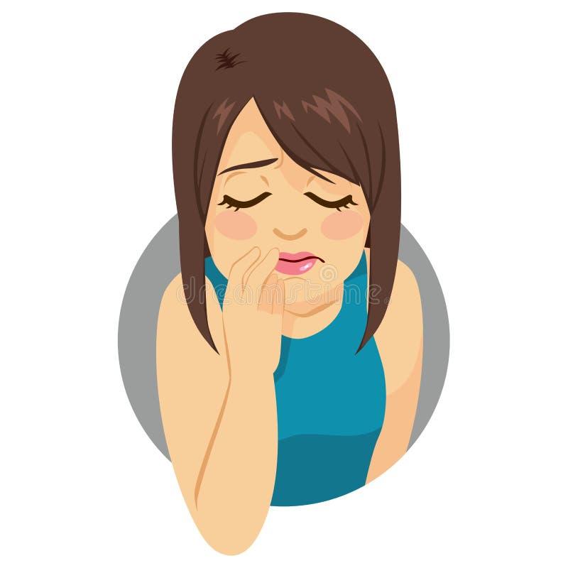 Depressed Girl. Sad young girl looking down feeling depressed royalty free illustration