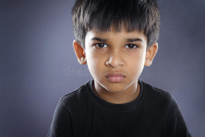 Depressed Indian Little Boy royalty free stock photo