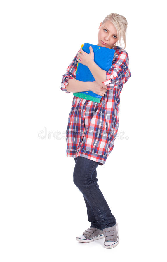 Download Depressed lady student stock photo. Image of note, casual - 20296518