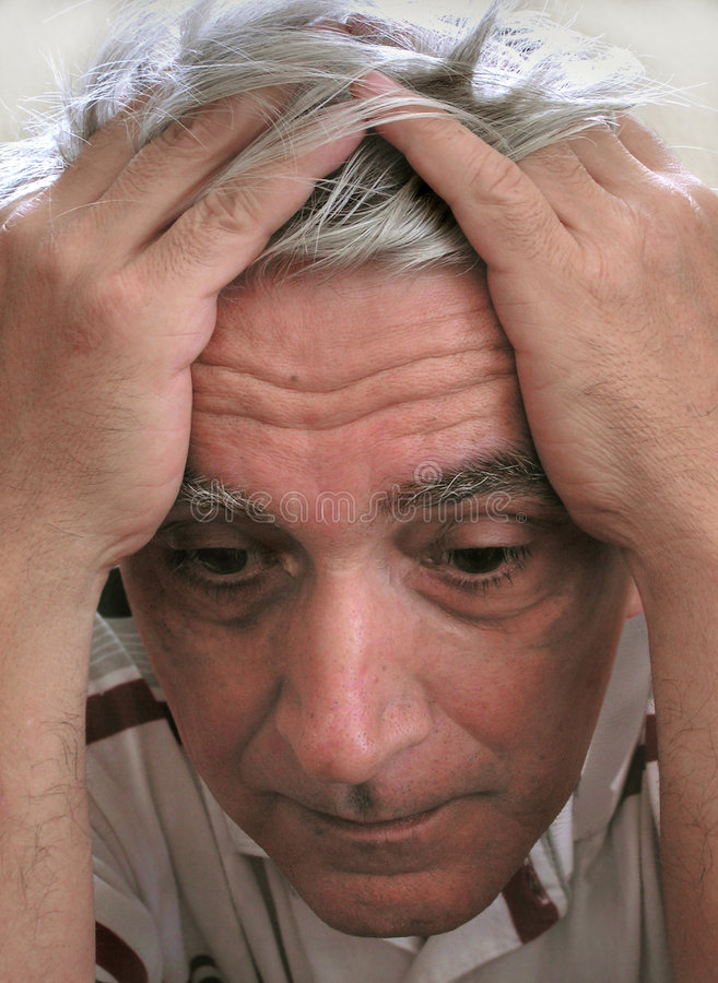 Download Depressed man stock image. Image of fear, confused, alone - 12269