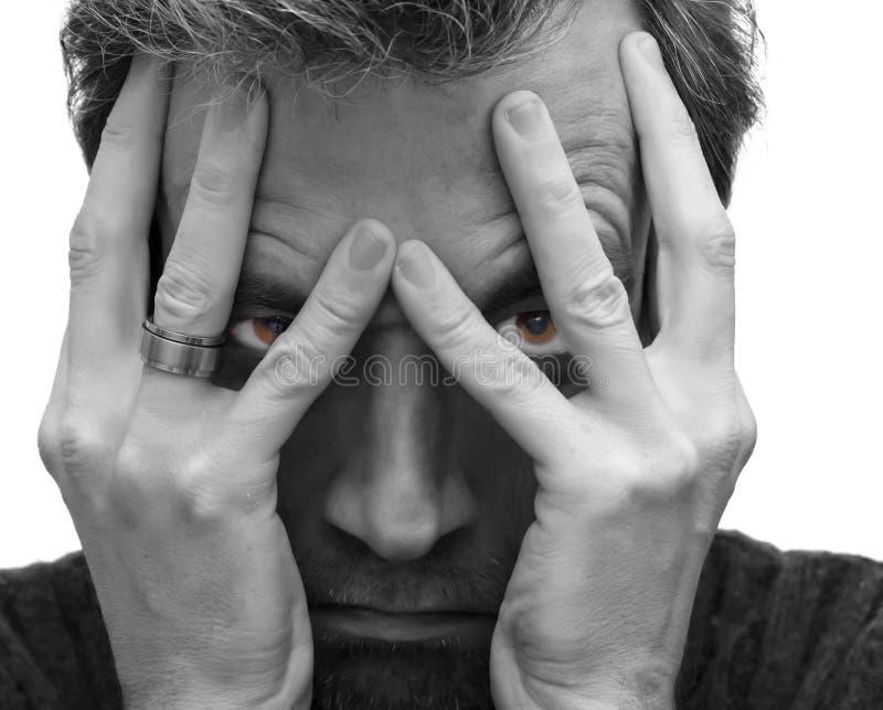 Download Depressed man stock photo. Image of black, copyspace - 23000130