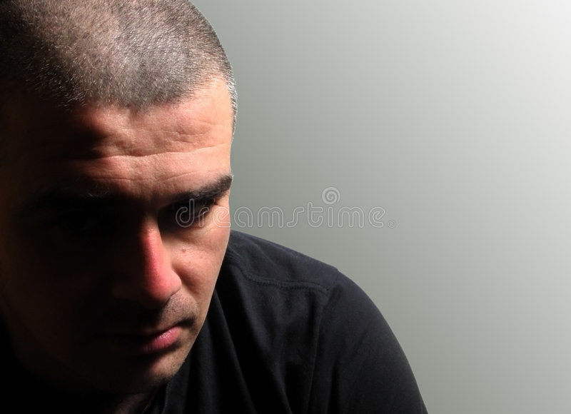 Depressed man stock images