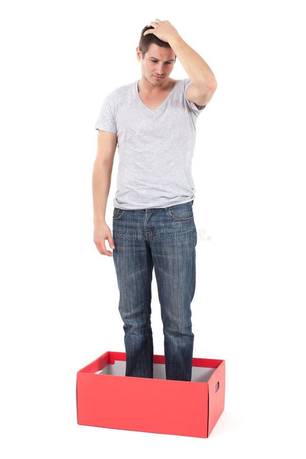 Free Depressed Man In The Box Stock Photos - 27821763