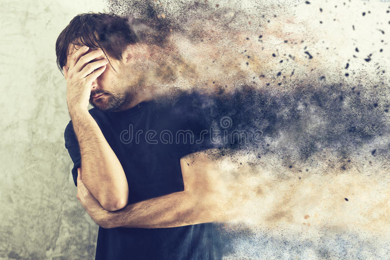 Depressed Man Portrait stock photography