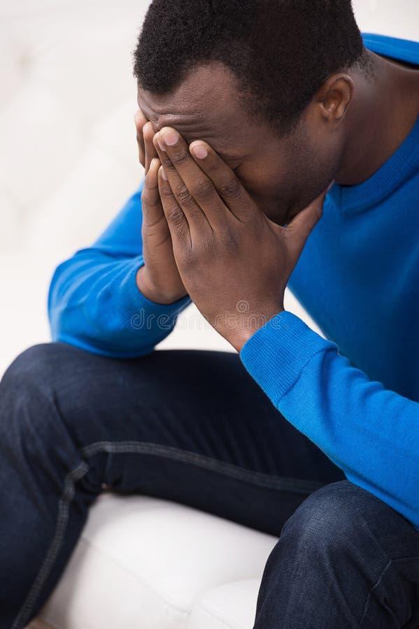 Download Depressed men. stock photo. Image of emotions, face, frustration - 32741362