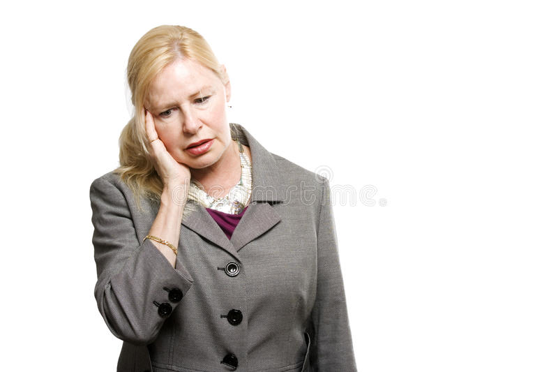 Download Depressed Older Business Woman Stock Photo - Image: 10422282