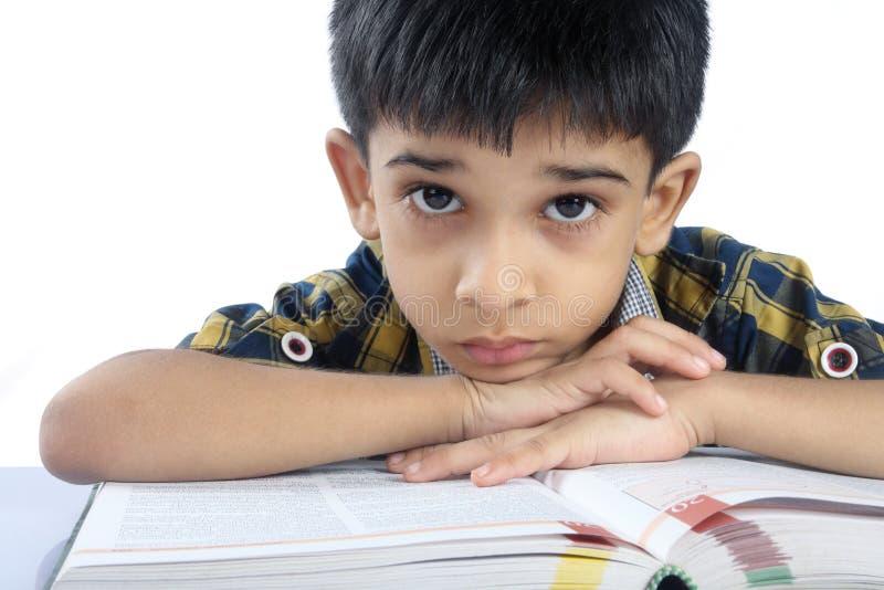 Depressed School boy stock photo