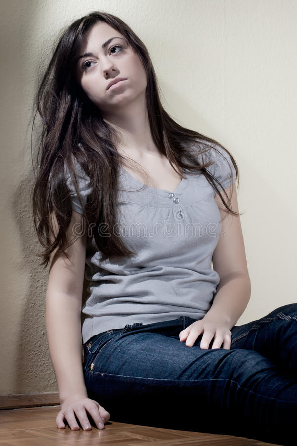 Download Depressed teenager stock photo. Image of person, pain - 17666048