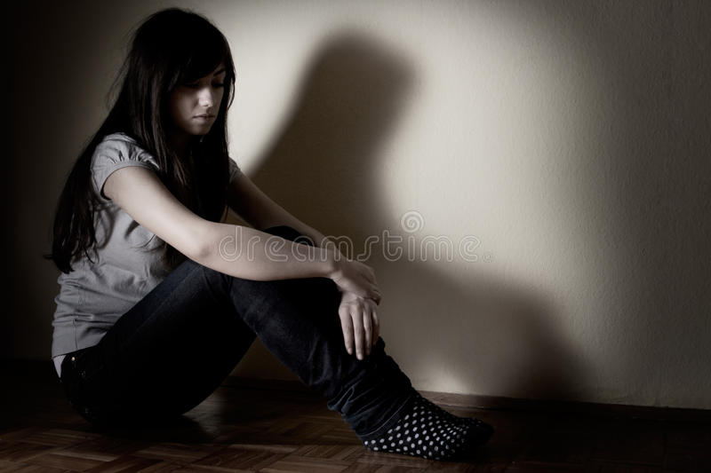 Download Depressed teenager stock photo. Image of problems, lonely - 17666264