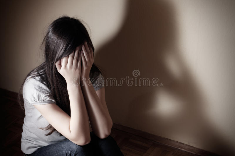 Depressed teenager royalty free stock photography