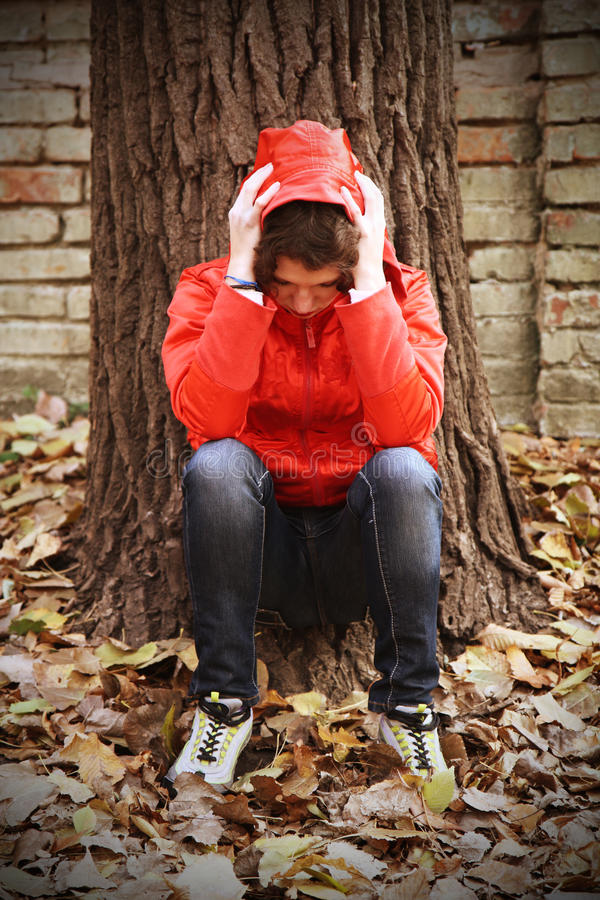 Download A Depressed Teenager Facing Her Own Problems. Stock Photo - Image: 21949128