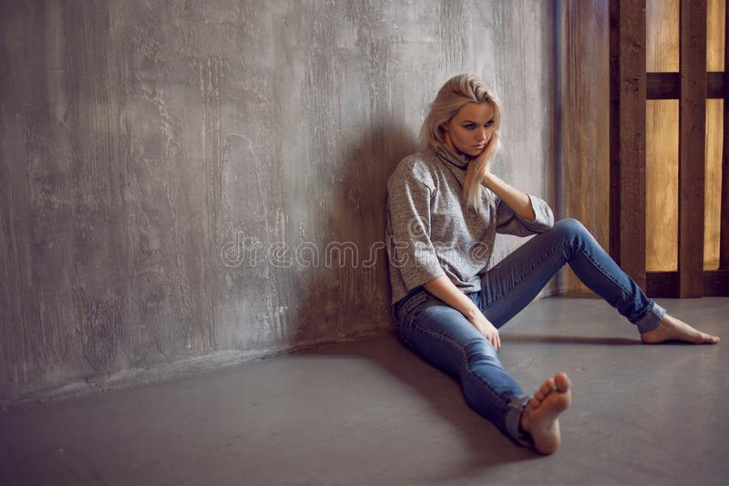Depression Depressed woman stock photo. Image of lonely ...