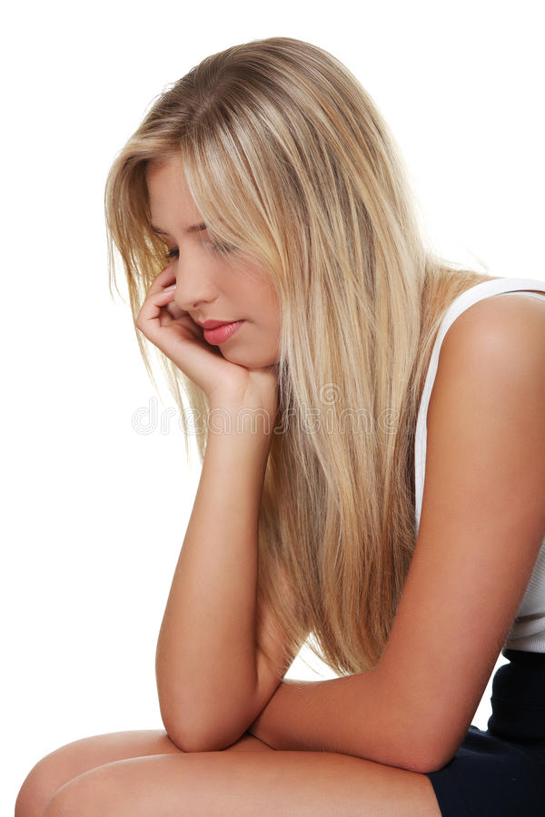 Depressed young woman stock photography