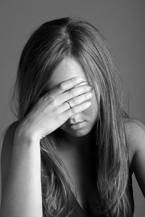 Depressie en verdriet royalty-vrije stock fotografie
