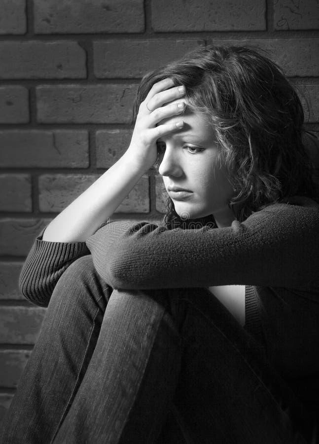 Depressie en Verdriet stock afbeeldingen