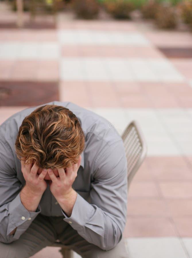 Depressie op de baan stock afbeelding