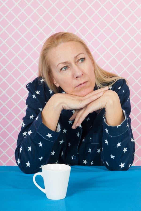 Depressieve vrouw royalty-vrije stock afbeeldingen
