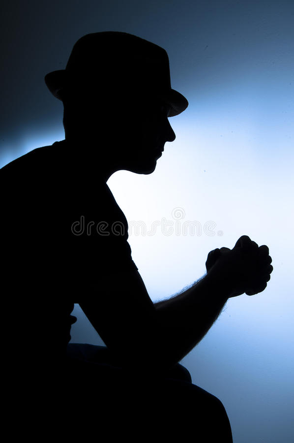 Download Depression stock image. Image of silhouette, dramatic - 22206039
