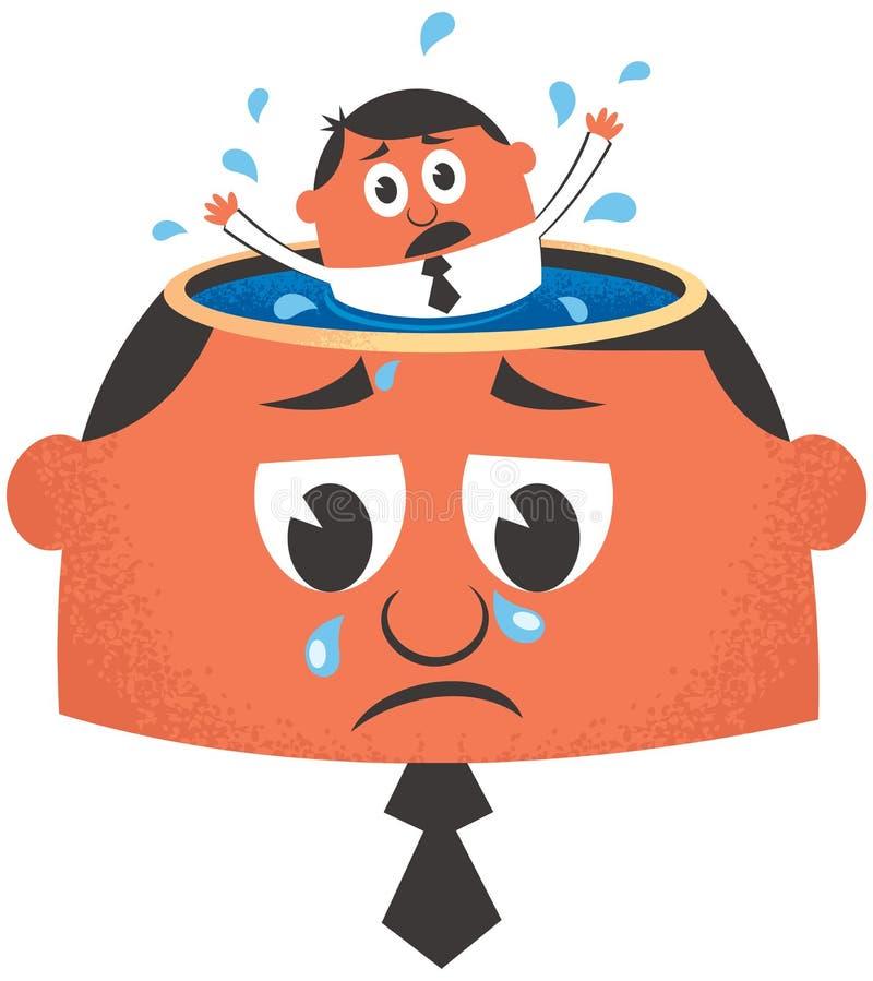 depression ilustração royalty free