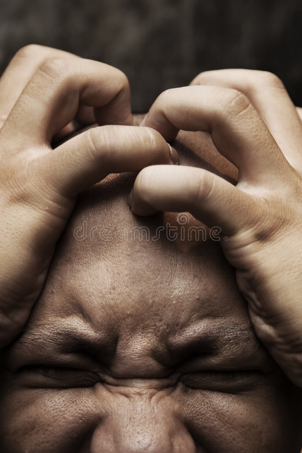 Depression Close Up Royalty Free Stock Photography