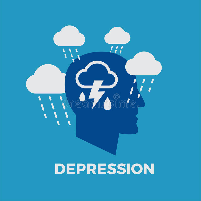 Depression. Concept vector illustration vector illustration