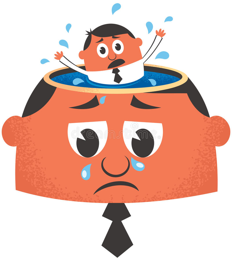 Depression royalty free illustration