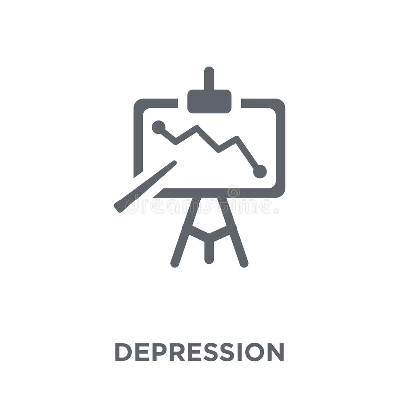 Depression icon from Diseases collection. royalty free illustration
