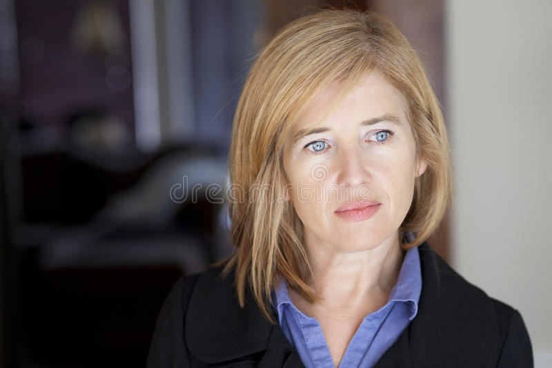 Depression Of A Mature Woman stock image