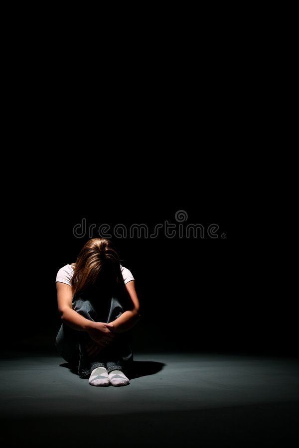 Depression Sitting Royalty Free Stock Photo