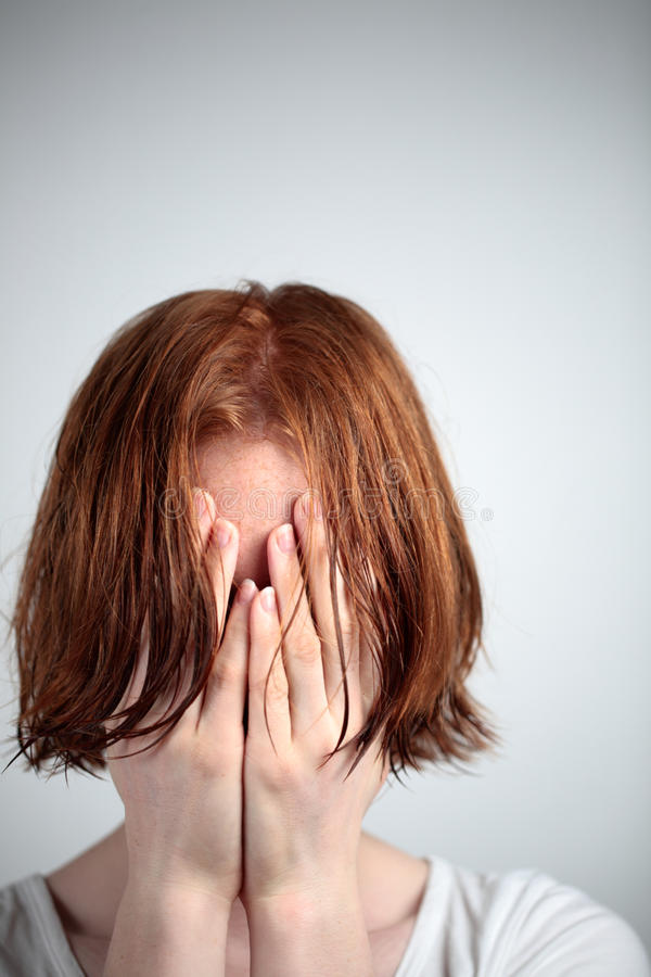 Depression, Stress or Fear royalty free stock images