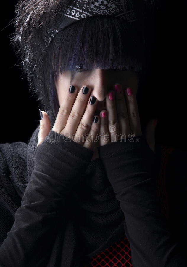 Depression of the young girl royalty free stock images