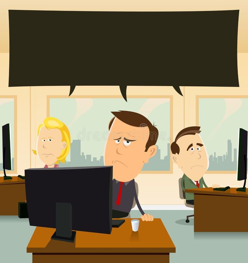 Depressione all'ufficio illustrazione di stock