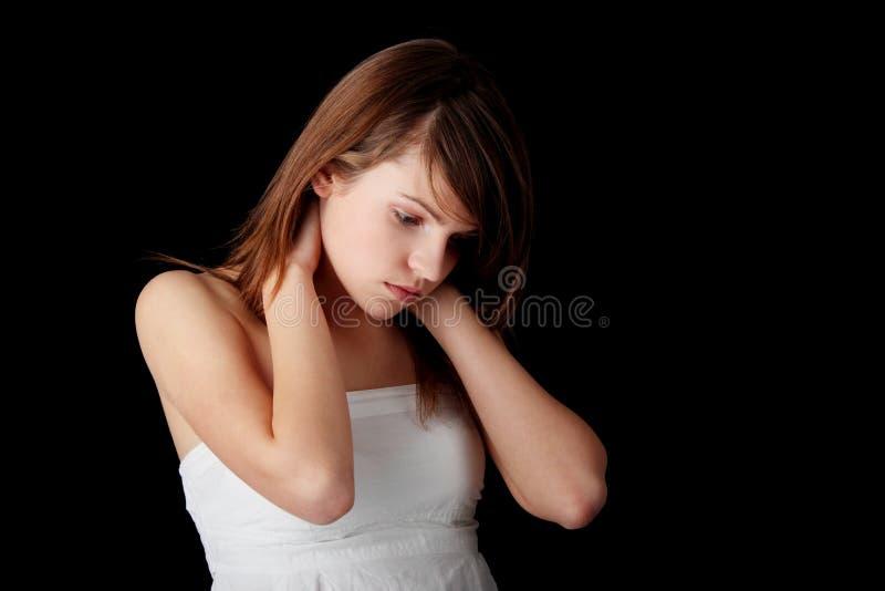 Depressione dell'adolescente fotografia stock