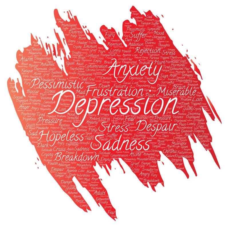 Depressione di vettore o disturbo psichico mentale royalty illustrazione gratis