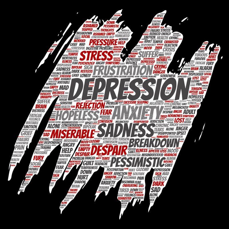 Depressione di vettore o disturbo psichico mentale illustrazione di stock