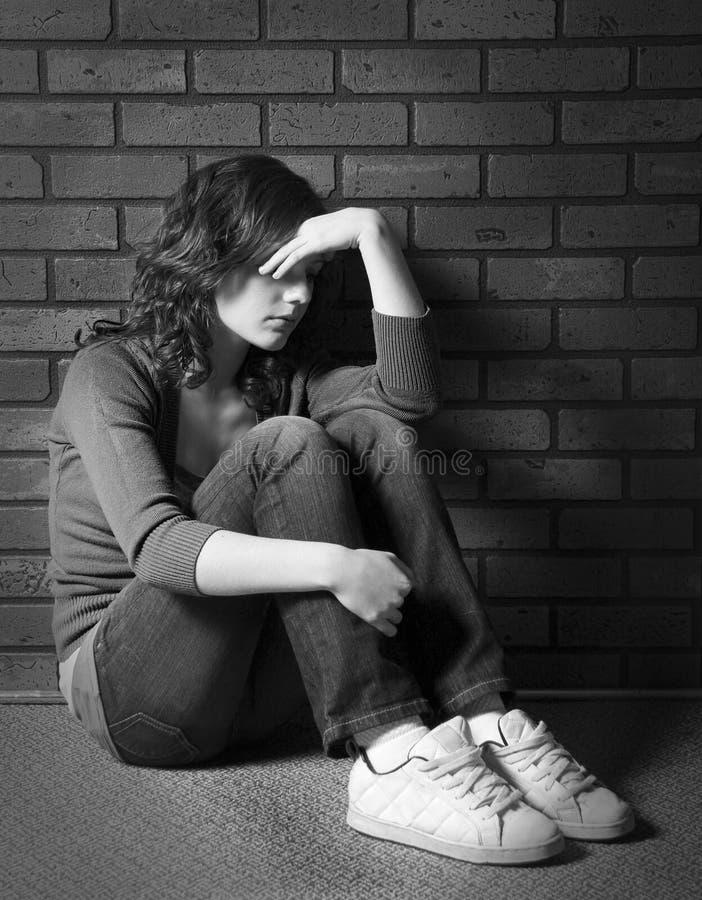 Depressione e dispiacere fotografia stock libera da diritti