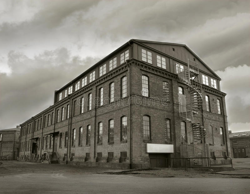 Depressione industriale della fabbrica fotografie stock libere da diritti