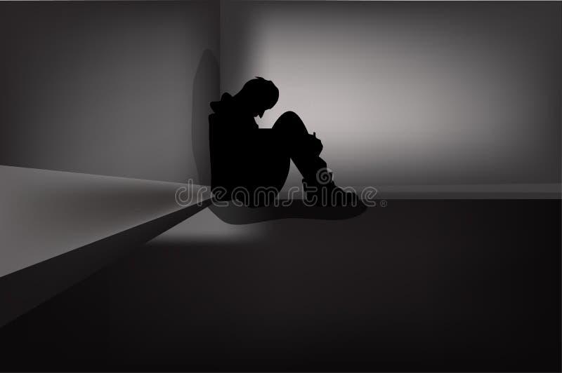 Depressive nieładu objawy ilustracja wektor