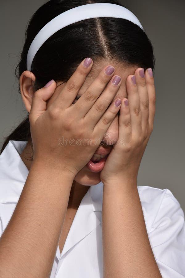 Deprimerad colombiansk kvinnlig arkivfoto