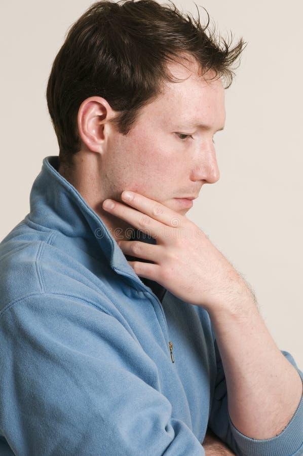 Deprimierende Mannseite lizenzfreies stockfoto