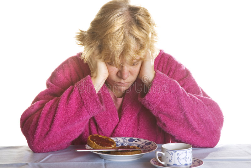 Deprimierte ältere Frau stockfoto