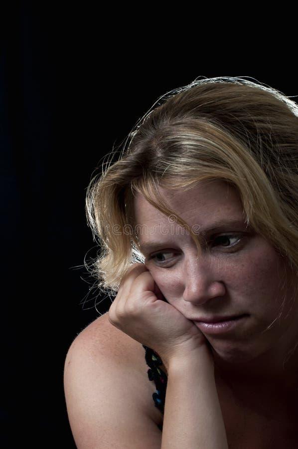 Deprimierte Frau stockbilder