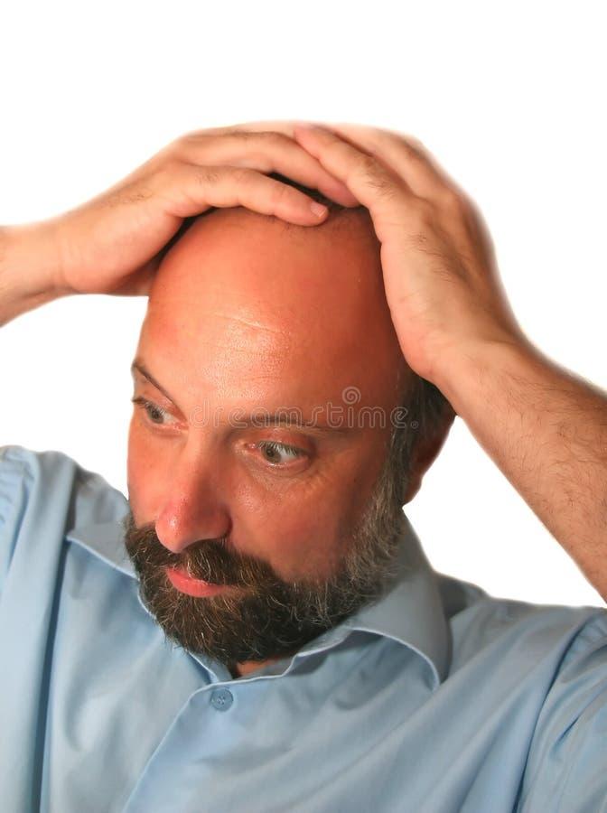 Deprimierte Männer stockfoto