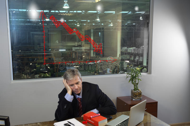 Deprimierter Manager stockfotografie