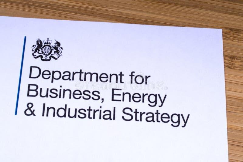 Dept для дела, энергии и промышленной стратегии стоковые фотографии rf