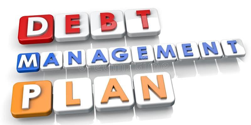 Dept Management Plan vector illustration