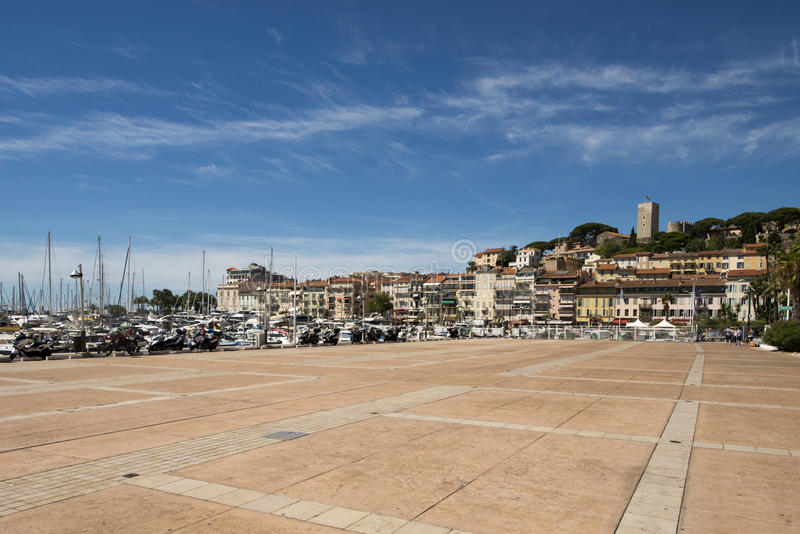 Deptak De Los angeles Pantiero, Cannes, Francja obrazy royalty free