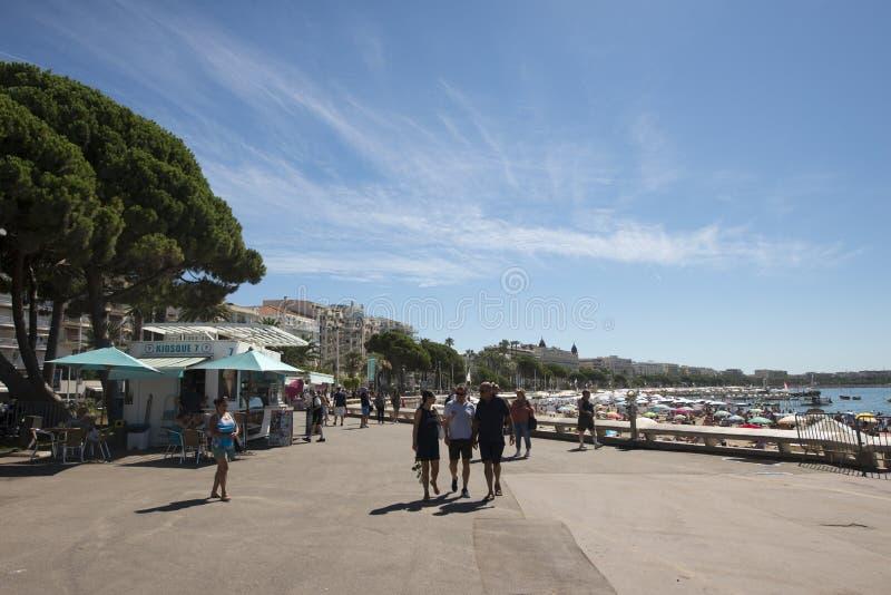 Deptak Robert Favre Le Bret w Cannes, Francja obraz stock