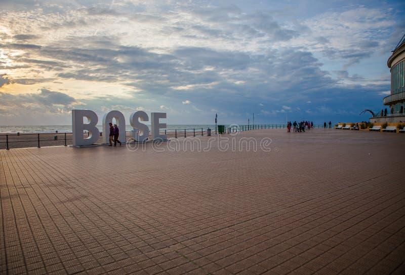 Deptak w Ostend obrazy stock